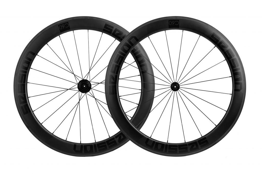 roda de carbono e rodas de fibra de carbono da Session C60