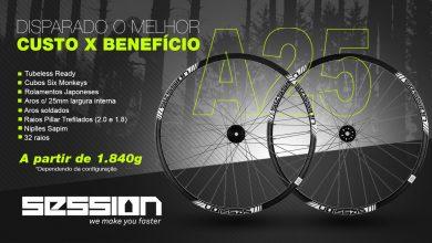 Photo of Roda de MTB A25. Leve, Pronta para Tubeless com Cubo Rolamentado