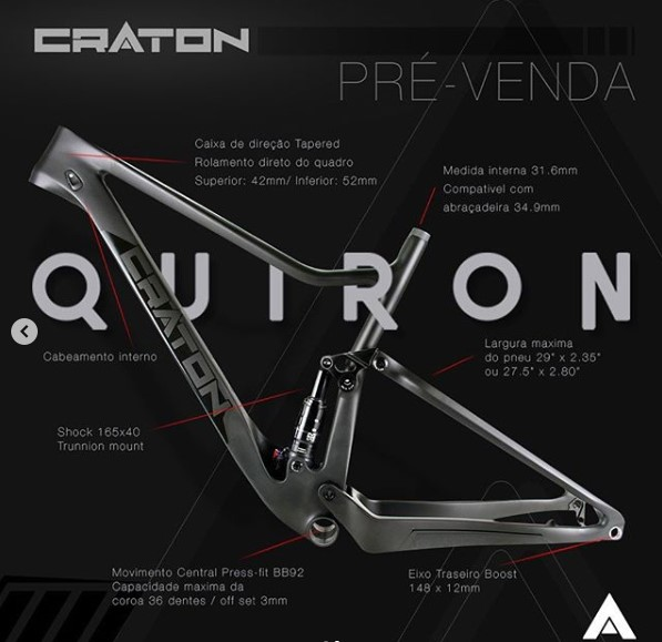 quadro full suspension quiron  craton session brasil mtb